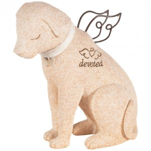 Faithful Dog Angel Stone statue