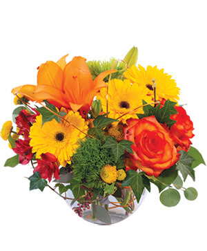 Faithful Fall Floral Arrangement in Ordway, CO | Flower Cottage