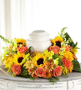 The FTD Faithful Sunflower Cremation Adornment