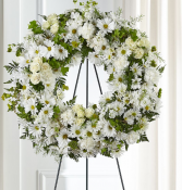 FAITHFUL WISHES WREATH sympathy