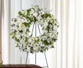 FAITHFUL WISHES WREATH WHITE WREATH