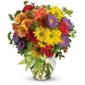 FALL 10 Fall Vase Arrangement
