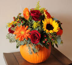 "FALL 15 "" REAL"" PUMPKIN FALL ARRANGEMENT"