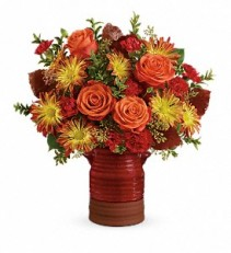 Fall   Heirloom Crock Bouquet T17T200