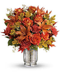 FALL 3 Fall Vase Arrangement