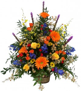 Autumn Supreme Basket Arrangement in Akron, PA | ROXANNE'S FLOWERS