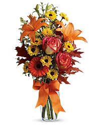 FALL 6 Fall Vase Arrangement