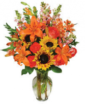 FALL 7 Fall Vase Arrangement