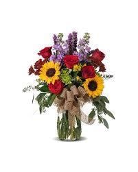 FALL 8 Fall Vase Arrangement