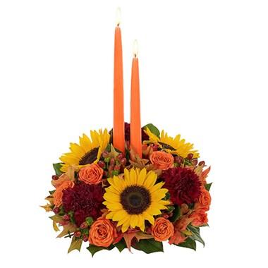 Fall Abundance Centerpiece Floral Arrangement
