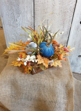 Fall and pumpkins in a drawer permanent floral