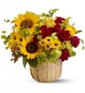 Fall Apple Harvest Basket Basket Arrangement