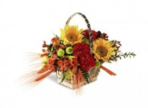 Fall Touch Basket Arrangement