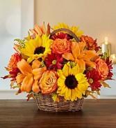 Fall Basket Centerpiece