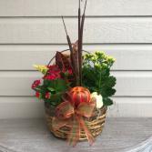 Fall Basket Planter