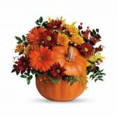 Fall Blessing Ceramic Pumpkin Arrangement
