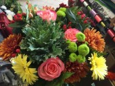 127 Fall blossom hand tied  without a vase  Hand tied