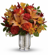 Fall Blush Bouquet All-Around Floral Arrangement