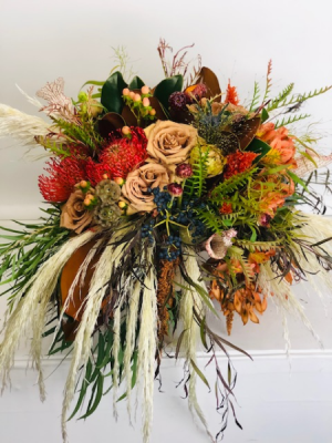 Fall Boho Wedding Wedding Bouquet in North Bend, OR | PETAL TO THE METAL FLOWERS