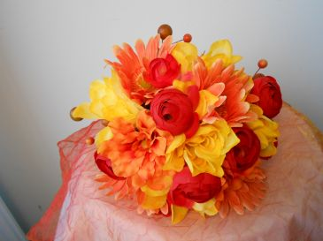 Fall bridesmaid Bouquet Hand tied bouquet
