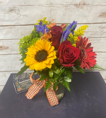 Fall Bright and Bubbly Arrangement
