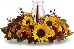 Fall Brights Bouquet Centerpiece