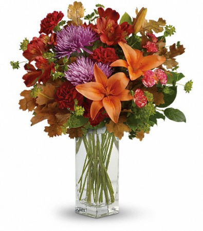 Fall Brights Bouquet Vase Arrangement