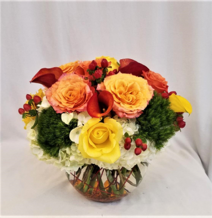 Fall Bubble Arrangement