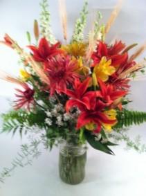 Fall Burst of Color Vase