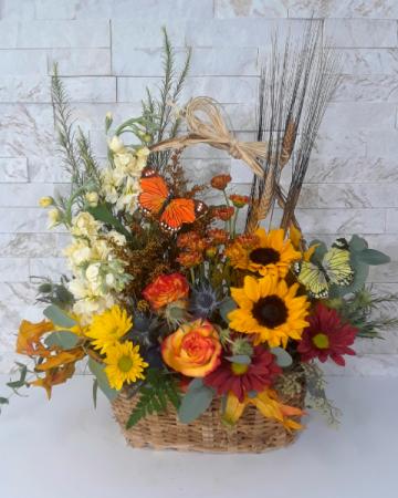 Fall Butterfly Basket
