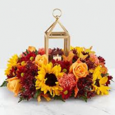 Fall Candlelight Lantern and arrangement