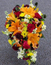 Fall Cascading Wedding Bouquet