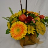 fall cattail centerpiece Thanksgiving