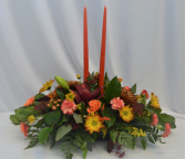FALL CELEBRATION FRESH FLOWER CENTER PIECE