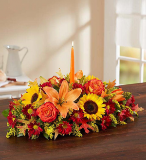 FALL CENTERPIECE  in Seagoville, TX | WHITE'S FLORIST
