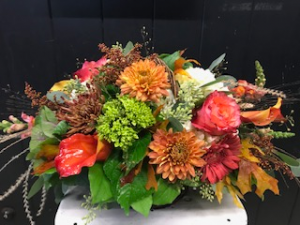 Fall Centerpiece Centerpiece in Fairfield, CT | Blossoms at Dailey's Flower Shop