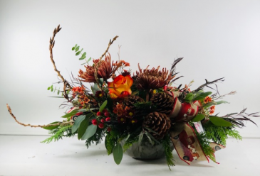 Fall Centerpiece  Container Arrangement