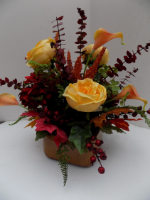 Fall Centerpiece Silk Arrangement