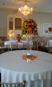 Fall Centerpiece Wedding table arrangement