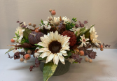 Fall centerpiece with white sunflowers Artificial silk