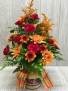 Fall Cheerful Giver Candle Bouquet Bouquet with a candle