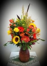 Fall Cinch Vase
