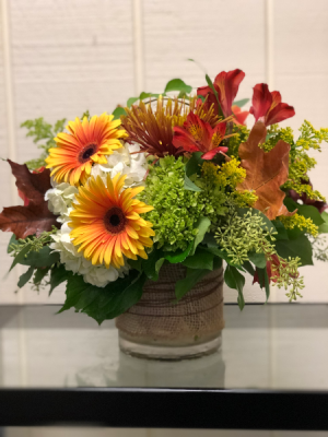 Fall Classic Dense Vase in Fairfield, CT | Blossoms at Dailey's Flower Shop