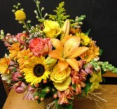 Fall Colors Vase Arrangement