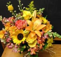 Fall Colors Vase Arrangement