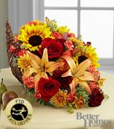 Fall Cornucopia  Container Arrangement