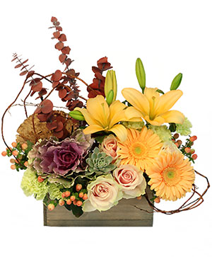 Fall Cottage Floral Design in Holbrook, MA | WHITE FLOWERS & GIFTS