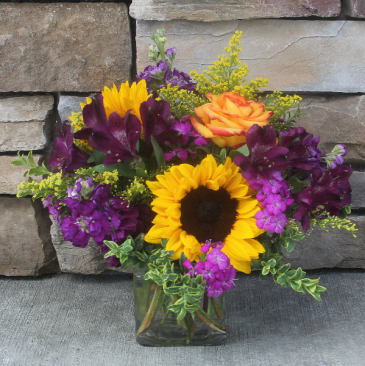 Fall Cube Arrangement Fall Garden Flowers