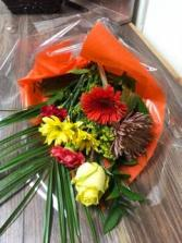 Fall cut flower bouquet No vase