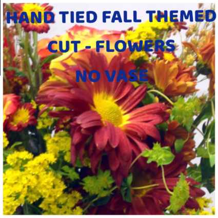 Fall cut flowers NO VASE  HAND TIED